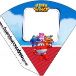 Cone Guloseimas 4 lados Super Wings