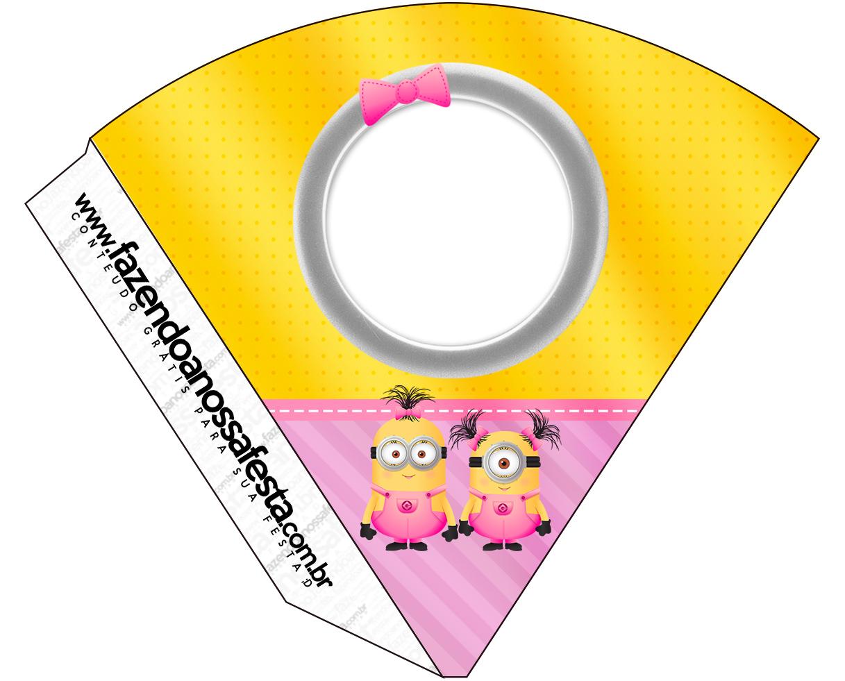 Cone Guloseimas Minions para Meninas