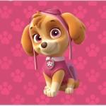 Convite 5 Patrulha Canina para Meninas