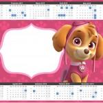 Convite Calendário 2015 2 Patrulha Canina para Meninas