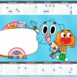 Convite Calendário 2015 2 o Incrível Mundo de Gumball
