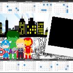 Convite Calendário 2015 3 Kit Festa Vingadores Cute