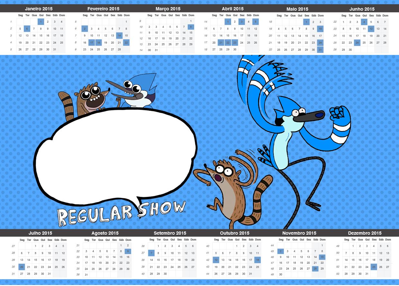 Convite Calendário 2015 Apenas um Show