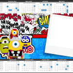 Convite Calendário 2015 Minions Super-Heróis