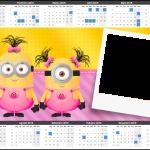 Convite Calendário 2015 Minions para Meninas