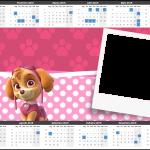 Convite Calendário 2015 Patrulha Canina para Meninas