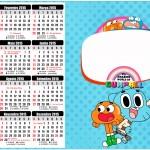 Convite Calendário 2015 o Incrível Mundo de Gumball