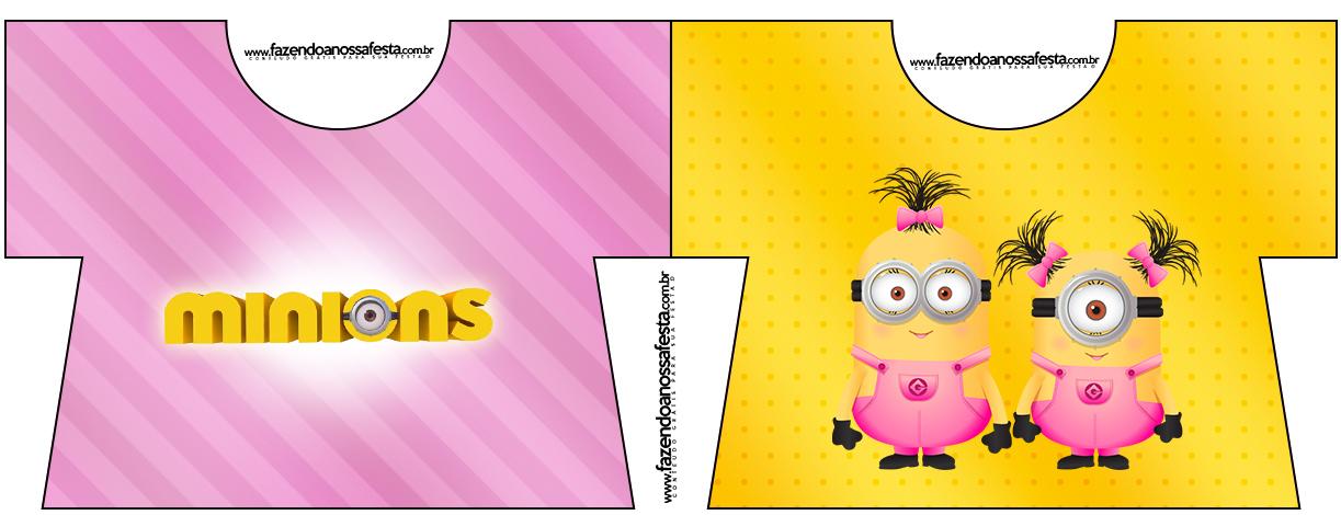 Convite Camisa Minions para Meninas