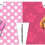 Convite Camisa Patrulha Canina para Meninas