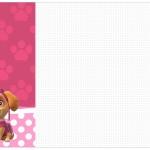 Convite, Cardápio ou Cronograma em Z Patrulha Canina para Meninas