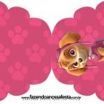 Convite Cupcake Patrulha Canina para Meninas