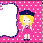 Convite Ingresso Menina Marinheira Loira