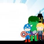 Convite Kit Festa Vingadores Cute 3