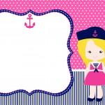 Convite Kit Menina Marinheira Loira