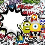 Convite Minions Super-Heróis