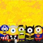 Convite Minions Super-Heróis 2
