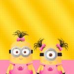 Convite Minions para Meninas 2