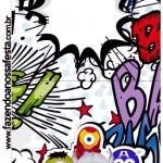 Convite Pirulito Minions Super-Heróis
