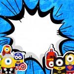 Convite ou Cartão Minions Super-Heróis