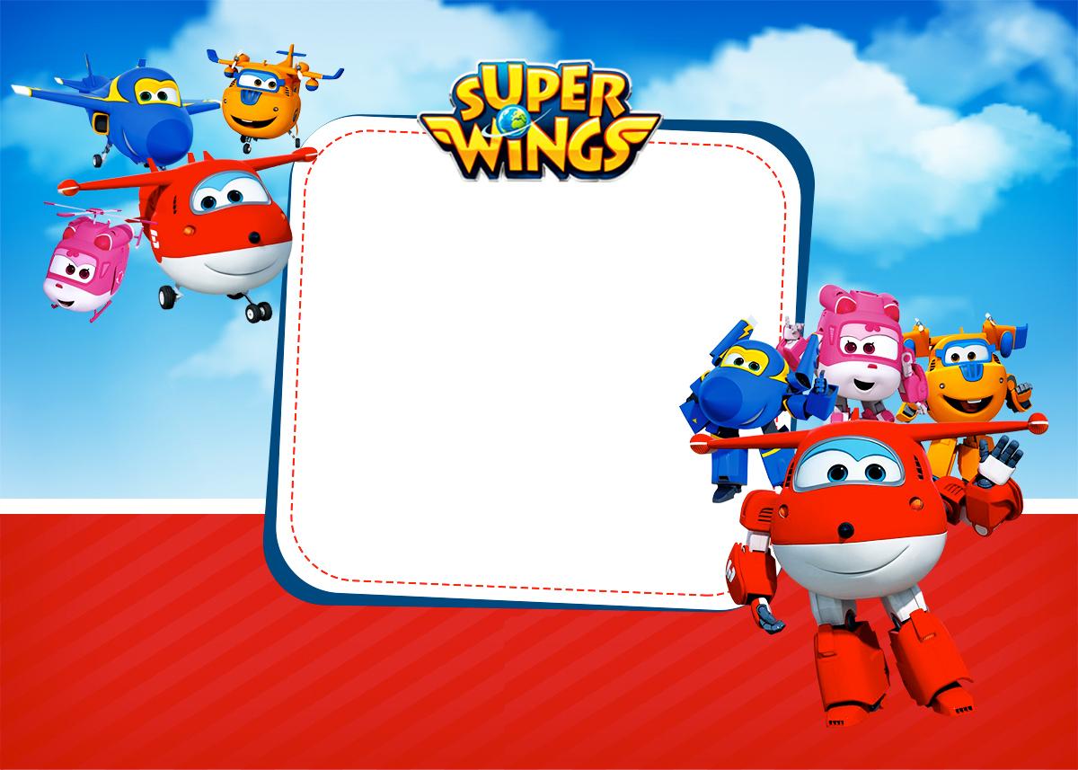 Convite ou Cartão Super Wings  Fazendo a Nossa Festa