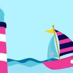 Convite ou Moldura Menina Marinheira Loira