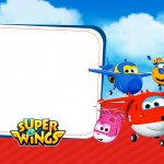 Convite ou Moldura Super Wings