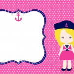 Convite para Festa Menina Marinheira Loira