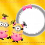 Convite para festa Minions para Meninas