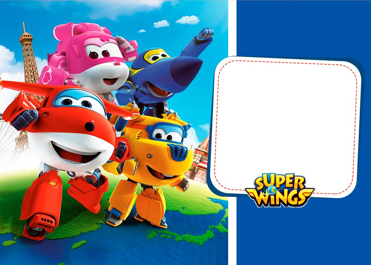 Convite para festa Super Wings