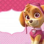 Convite para festa infantil Patrulha Canina para Meninas