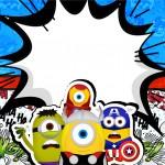 Convite personalizado Minions Super-Heróis
