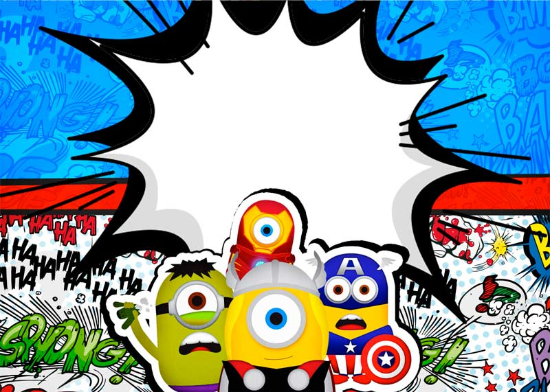 Convite Kit Festa Minions Super-Heróis