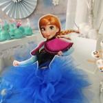 Enfeite com Tule Festa Frozen da Sarah