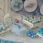 Decoração Bolo Festa Frozen da Sarah