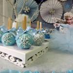 Maça do amor Bolo Festa Frozen da Sarah