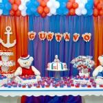 Decoração Festa Ursinho Marinheiro Gustavo
