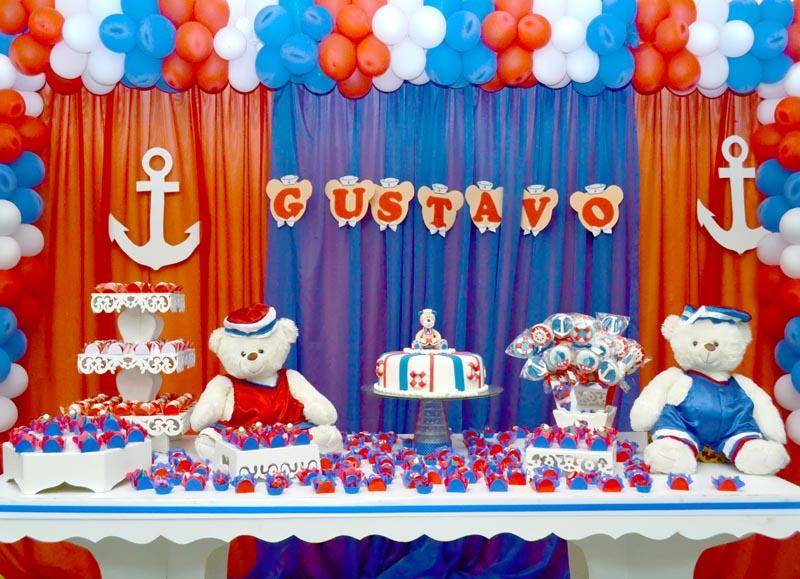 Decoração Festa Ursinho Marinheiro do Gustavo