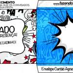 Envelope Cartão Agradecimento Minions Super-Heróis