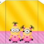 Envelope Convite Minions para Meninas