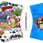Envelope Fritas Minions Super-Heróis