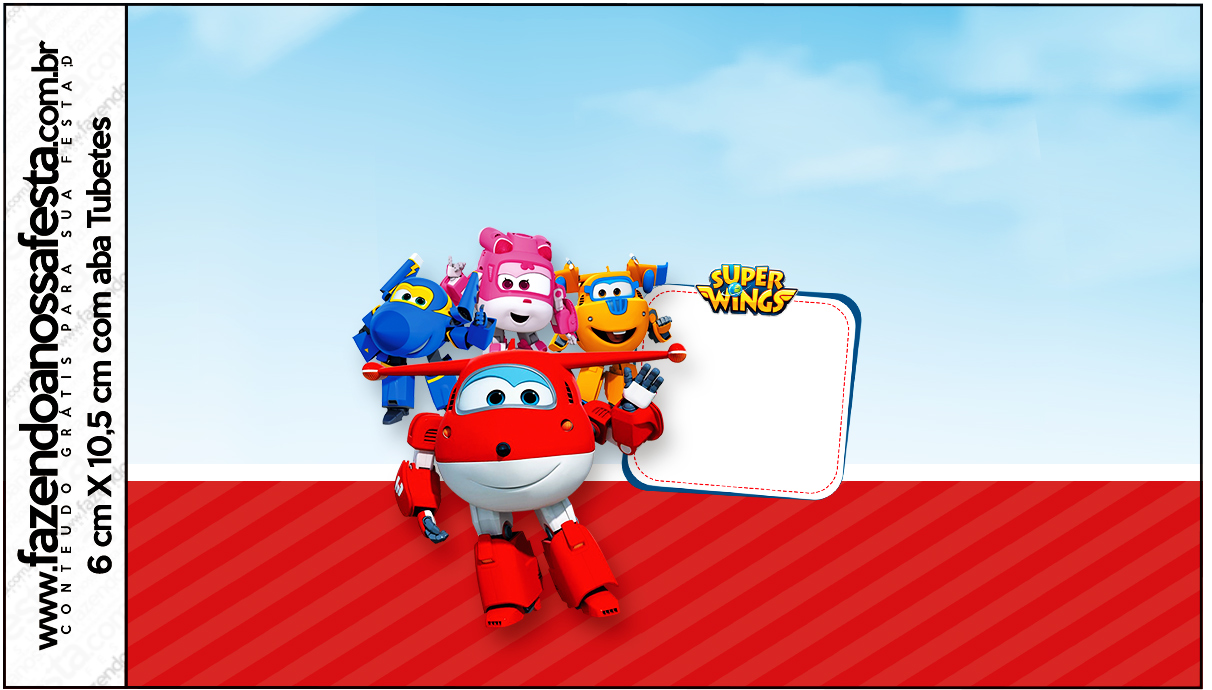 Rótulo Tubetes Super Wings