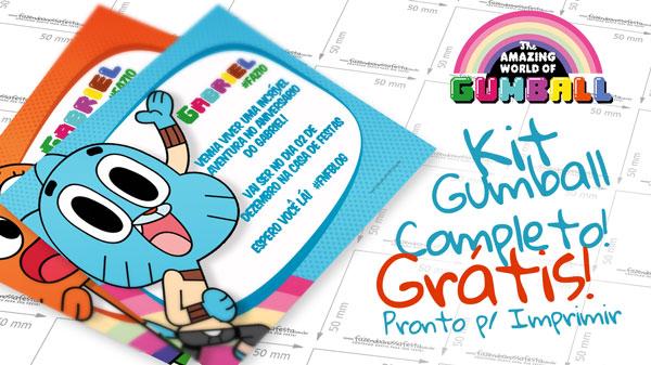 Kit Festa O Incrível Mundo de Gumball Grátis