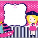 Lata de Leite Menina Marinheira Loira