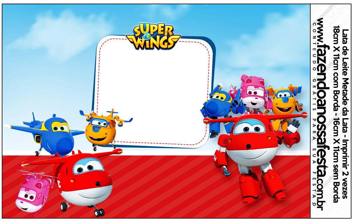 Lata de Leite Super Wings
