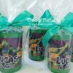 Lembrancinha Cofrinhos Festa Tartarugas Ninjas do Lucas