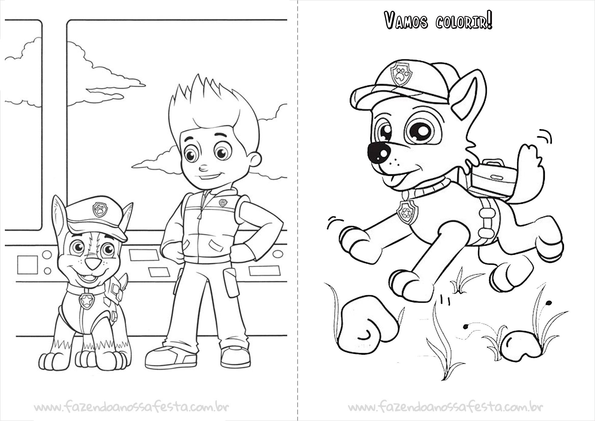 Livrinho para Colorir do Patrulha Canina Página 8