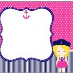 Marmita Pequena Menina Marinheira Loira
