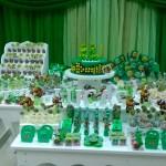 Mesa decoração Festa Tartarugas Ninjas do Lucas