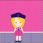 Mini Confeti Menina Marinheira Loira