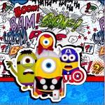 Mini Confeti Minions Super-Heróis